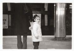 Little Girl with Mom, photographed on the Boston MBTA Subway Platform circa 1999-2000