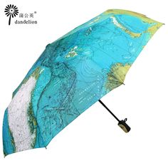 World Map Print Umbrella