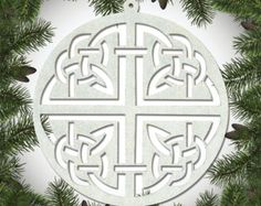 Intricate Celtic Knot Ornament Set of 6 - Cut Out Design, Made of Wood $13.90 etsy