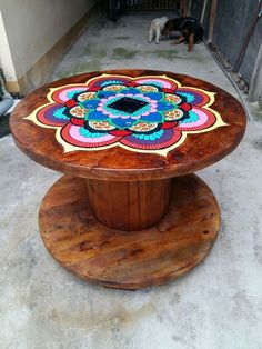 idées de design de table basse DIY facile – Once you have located the right DIY coffee table plans, completion of your project will take just a few hours. Coffee tables can be created with just … - Interior Decoration Accessories coffee tables Wooden Spool Tables, Cable Spool Tables, Wood Spool, Wood Table, Painted Chairs, Painted Furniture, Diy Furniture, Business Furniture, Painted Coffee Tables