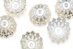 Silver Filigree Bead Caps (10 Pack) - Alternative Image
