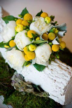 Yellow Bridesmaid Bouquet.