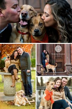 Fall engagement photos with dog | Tracey Buyce Photography #engagement