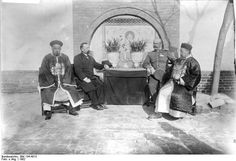 Qing dynasty officials, late Qing, 1902.