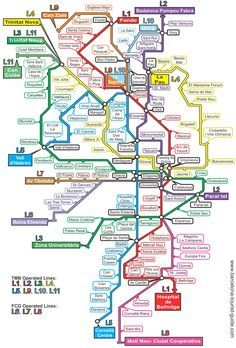 Barcelona Metro Map Click On The To See A Magnified Version Barcelone Carte