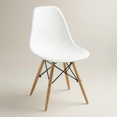 With a mid-century modern aesthetic and a sculptural look, our sophisticated chairs have comfortable molded seats with flexible backs and rounded edges. An incredible value, these unique chairs feature beech wood legs and metal support accents for added visual detail.