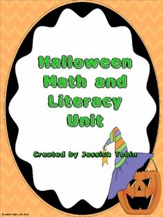 8 different Math and Literacy activities for Halloween