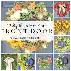 Great ideas for the front door: 12 ideas for seasonal front door decor - all DIY and budget friendly!