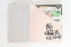 stephanie makes: Crate Paper: Love This Moment Mini Album