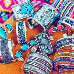 Moonbeams and Mayhem — 🌺 perfect arm candy for stacking ~ Link in bio to... Arms, Bangles, Bohemian, Candy, Jewelry, Bracelets, Jewlery, Jewerly, Schmuck