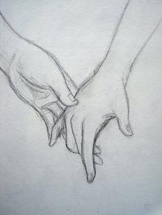 easy-to-love-drawings dibujos-de-amor-faciles easy-to-love-drawings Couple Drawings, Love Drawings, Art Drawings, Simple Pencil Drawings, Drawing Tips, Drawing Sketches, Painting & Drawing, Drawing Hands, Sketching