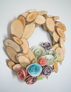 DIY wood wreath, per