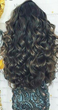 Big Curls For Long Hair, Long Curls, Long Layered Hair, Very Long Hair, Long Curly Hair, Beautiful Long Hair, Gorgeous Hair, Glam Hair, Hair Highlights