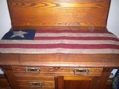 Flag table runner by gingerbreadcottagecr on Etsy