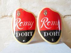 Bistro advertising sconces, red Remy Dort Belgian Beer lights, mid century wall sconces, beerhouse.