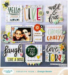 """307 Likes, 6 Comments - Hip Kit Club Scrapbooking Kits (@hipkitclub) on Instagram: """"Just look at that amazing paint work that designer @foricecreamiscream has created on her…"""""""
