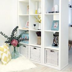 It is estimated that every five seconds, one BILLY bookcase is sold somewhere in the world. Home Office Decor, Entryway Decor, Office Ideas, Ikea Billy Bookcase White, Room Ideas Bedroom, Girls Bedroom, Ikea Kallax Shelving, Storage Hacks, Cube Storage