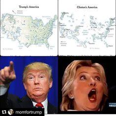 #Repost @momfortrump with @repostapp ・・・ This map really puts it into perspective how few geographical areas the Democrats got. Thank God for the electoral system! #presidenttrump #trumpwon #trump #45thpresident #lawandorder #gop #trump2016 #election2016 #draintheswamp #donaldtrump #realdonaldtrump #hillary #hillaryclinton #hillaryforprison #womenfortrump #maga #republican #americafirst #buildthewall #demorcrats #usa #politica #usa #makeamericagreatagain #trumptrain #conservative #foxnews…