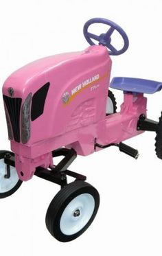 New Holland T7 Pink Pedal Tractor