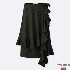 WOMEN J.W.ANDERSON Stripe Ruffle Wrap Skirt