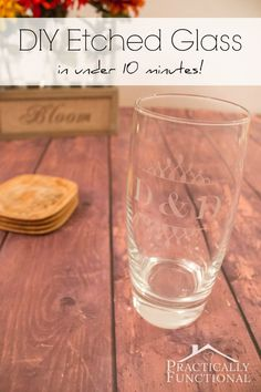 How To Etch Glass At Home with your Silhouette | great gift idea | Practically Functional