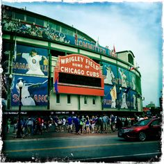 Even if you're not a baseball fan like me, no trip is complete without paying homage to historic Wrigley Field...Home of THE Chicago Cubs...and a lot of loyal fans