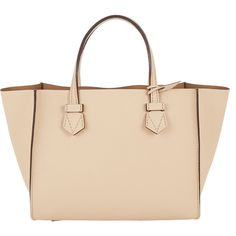 Moreau Bregançon Open Tote ($2,890) ❤ liked on Polyvore featuring bags, handbags, tote bags, purses, bolsas, totes, white, white tote bag, woven tote and genuine leather tote