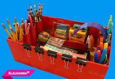 Diy homework caddy = shoe box + toilet paper tubes + duct tape from School Supply Storage, School Supply Labels, School Supplies Organization, Organizing School, Organization Ideas, Storage Ideas, Homework Caddy, Homework Station, Diy For Teens