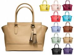 2014 New Colors Coach Leather Candace Carryall Bag Purse Satchel Tote | eBay