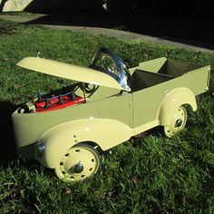 Vintage Gendron truck pedal car - for the kid who likes looking under the hood.