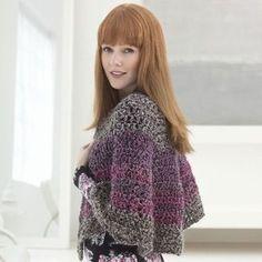 Châle festonné en crochet Thick & Quick Homespun de Lion Brand