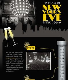 Pinterest   10 New Year Infographics images   Infographic     The first new year celebration was held on 1904 at Times square  New York  City
