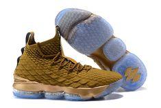 ff4387dc9e643 Elegant Shape Nike LeBron 15 Pride of Ohio Gold Men s Sneakers Basketball  Shoes