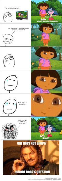 Intimidating Dora
