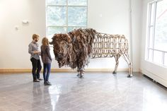 American Bison sculpture life sized original fine by gggreatwhite, $10000.00
