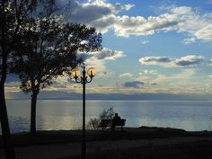 peaceful moments of serendipity by the sea in Karabournaki , Thessaloniki