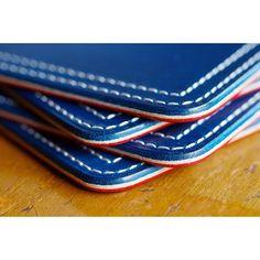 tricolor coasters  #tricolor #leatherwork #leathercraft #leathergoods #leatheredge #niwaleathers by niwa_leathers
