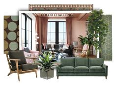 Green and Blush by sabine-713 on Polyvore featuring interior, interiors, interior design, Zuhause, home decor and interior decorating
