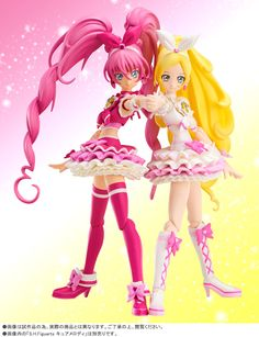 Cure Melody and Cure Rhythm - S.H.Figuarts キュアリズム   プレミアムバンダイ   バンダイ公式通販サイト