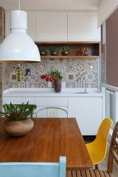 Ideias de decoração neutra com um toque de cor