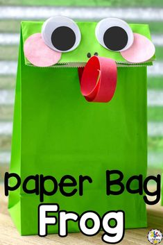Are you teaching your children all about frogs and looking for an easy-to-make craft for kids? Then, you're in the right hop… I mean spot! Take the leap and make this simple Paper Bag Frog Craft today! This craft is a great addition to your Spring unit or frog study. It's also a fun way for kids to develop their fine motor skills and work on following directions. Click on the picture to learn how to make this Spring craft for kids! #craftforkids #frogcraft #springcraft #finemotorskills
