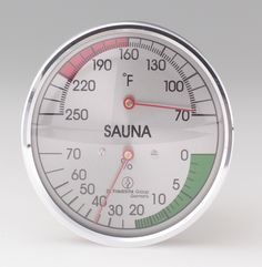 """Thermometer/Hygrometer:  round 4"""" Sauna Accessories, Cooking Timer"""