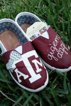 youth toddler shoes / hand painted custom toms / texas a&m aggies / Etsy shanny's shoes