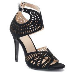 NYLA Shion Women's High Heel Sandals, Size: 7.5, Black