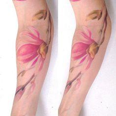 Magnolia tattoo on forearm - 50  Magnolia Flower Tattoos  <3 <3