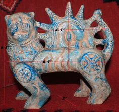 Persian Handmade Lion and Sun Shir Khorshid Shidfar Statue Antique Reproduction