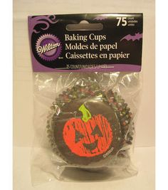 Standard Baking Cups Chalkboard Halloween 75ct