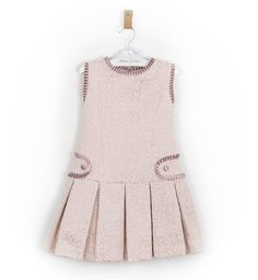 -NUEVO- Vestido niña ceremonia rosa talle bajo   Aiana Larocca