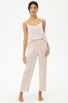 93c319a09143b Striped Cami   Pants Pajama Set Loungewear Set
