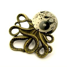 Your place to buy and sell all things handmade Photo Tent, Octopus Jewelry, Stain On Clothes, Steampunk Octopus, Halloween Sale, High Gloss, Bronze, Antiques, Metal